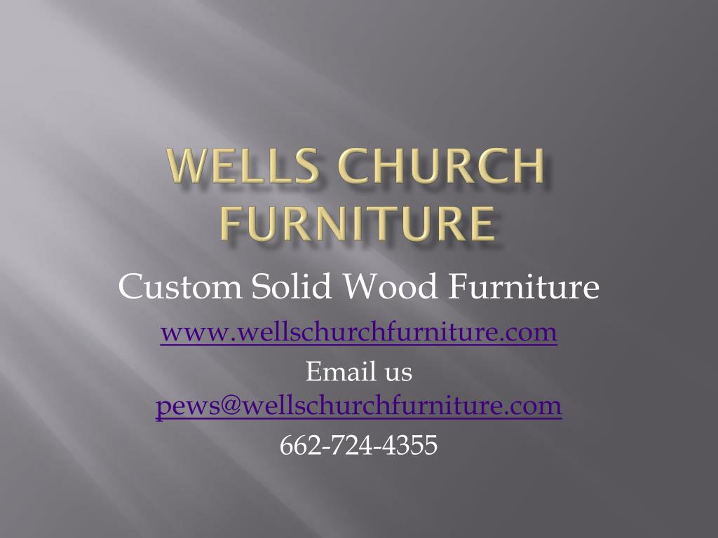 Wells Church Furniture